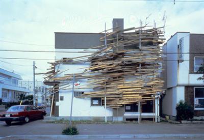 写真1「アパートメント・プロジェクト テトラハウス N-3 W-26」札幌(1983)